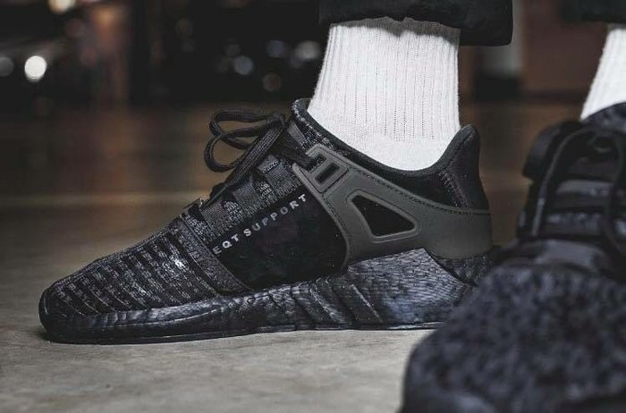 best sneakers a6f78 ef4a9 Adidas EQT SUPPORT Boost 93/17 9317 全黑 黑魂 編織限量球鞋 BY9512-Yahoo奇摩拍賣