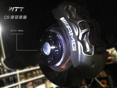 CS車宮車業 WTT 一體鍛造 實裝Benz GL350 鋁圈墊片 5/112 15mm 配M14 1.5螺絲