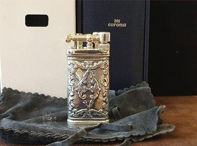 ONE*$1~德國Sillem's十字錨 OLD BOY《煙斗打火機》925純銀*雙面普羅式雕刻