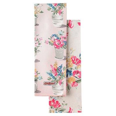 英國Cath Kidston 2016春夏款 FLOWER POTS 茶巾(一組兩條)