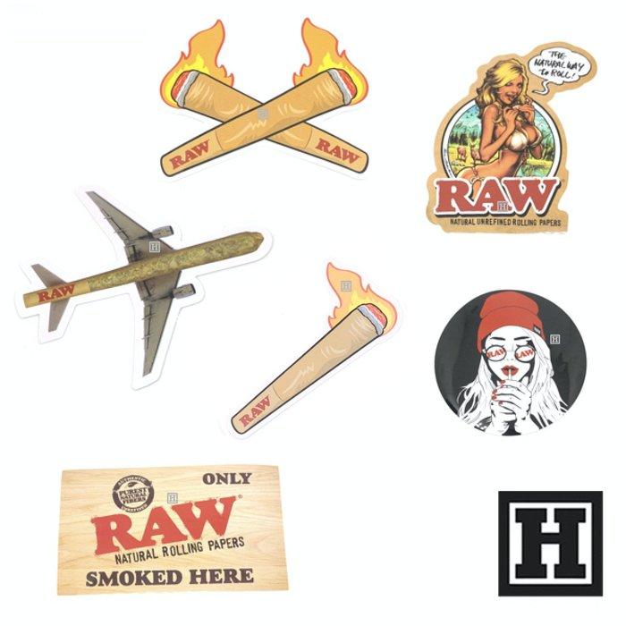 [H Market] 西班牙原裝 RAW Stickers 精選貼紙組合 6入 420 Weed Joint