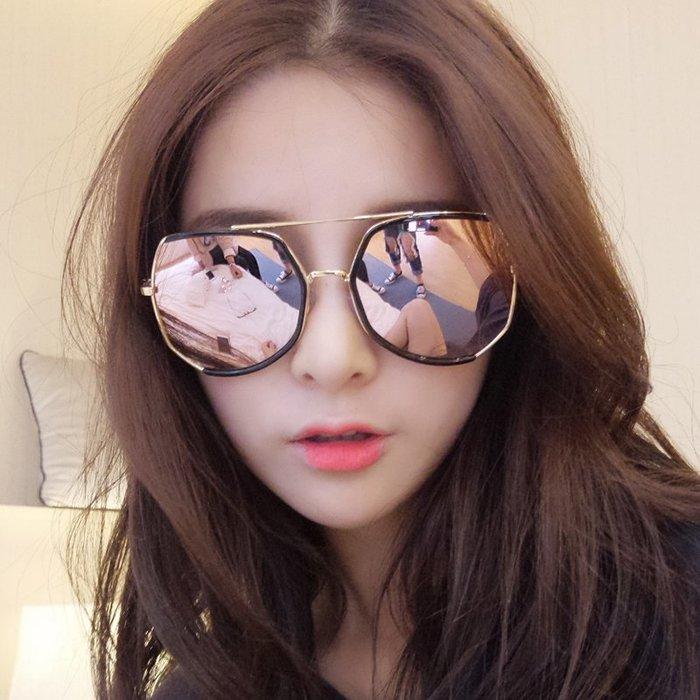 墨鏡女潮眼鏡2019新款圓形彩色太陽鏡女圓臉正韓復古眼鏡