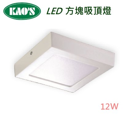 LED 12W 方塊吸頂燈 *全電壓 另有億光歐司朗奇異飛利浦旭光歐司朗 燈泡