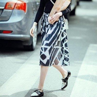 長裙 棉質半身裙子-優雅氣質經典印花女裙裝73hv41[獨家進口][米蘭精品]
