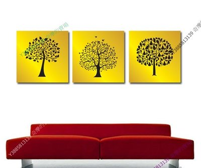 【60*60cm】【厚1.2cm】金發財樹-無框畫裝飾畫版畫客廳簡約家居餐廳臥室牆壁【280101_086】(1套價格)