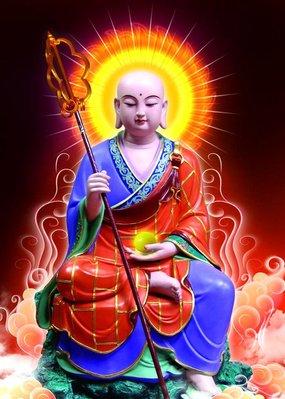 唐卡 佛教 佛像 轉運開光結緣唐卡畫像凈土大悲大愿地藏王菩薩 佛像 相紙雙面塑封佛教用品