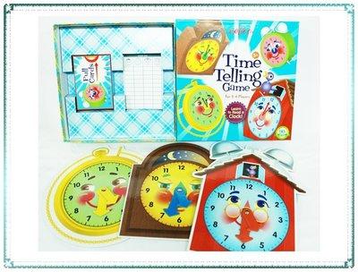 【Q寶寶】美國 Eeboo 桌遊 時間遊戲Time Telling Game 兒童玩具 禮物_現貨