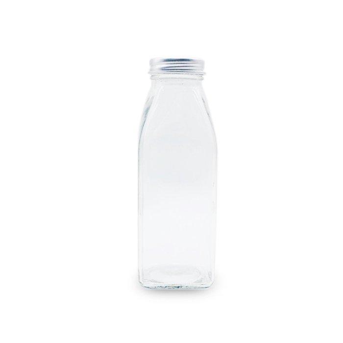 鋁蓋玻璃350ml 方瓶☆ VITO zakka ☆ 漂流瓶 許願瓶 儲物瓶 冷泡茶玻璃瓶