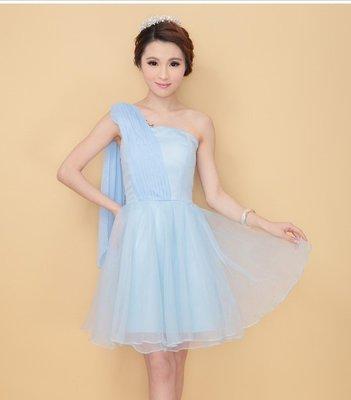小洋裝 禮服 伴娘服 婚宴服 藍色禮服