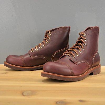 (義大利酒紅40~46)8111完美改良  進口牛皮純橡膠底 牛皮厚底靴 木村拓哉 iron ranger