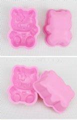 【乖乖媽手作】單孔KITTY模 - 矽膠製手工皂模具