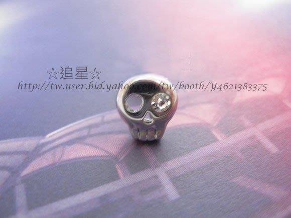 ☆追星☆ 1240鑲鑽骷髏頭耳環(1個)李洪基FT Island弘基 美男Jeremy明星飾品 1顆鑽 韓國進口