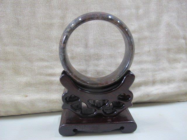 二手舖 NO.4248 天然海洋瑪瑙手鐲 水草瑪瑙手環 寬版 玉環 玉鐲 水潤細膩 首飾飾品