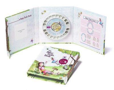 美國原裝進口 Baby Tooth ALBUM 乳齒保存盒 乳牙保存盒 乳牙盒 乳齒盒_小女孩款