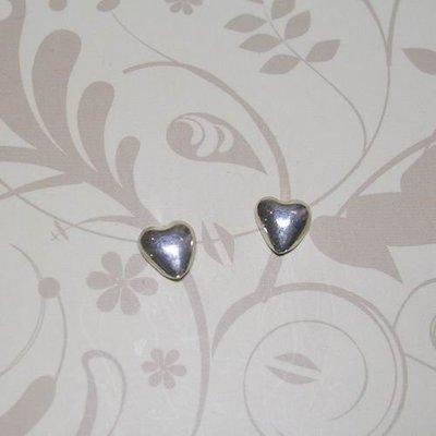 琥珀貓銀飾DIY【925純銀飾品】耳飾~耳針~N7588款~6mm愛心~一對