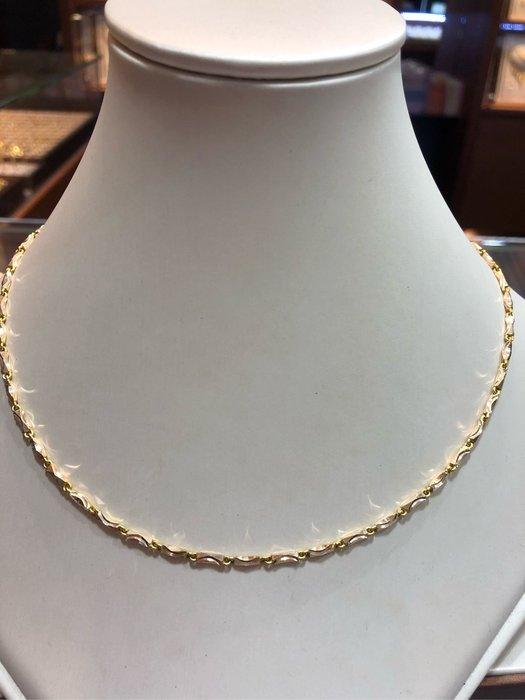 台K金項鍊,單戴就很好看,超值優惠價12360元,只有一條賣掉就沒有了,基本款式適合搭配各種墜飾,不褪色不過敏