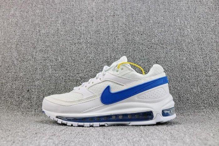 Nike Air Max 97 / BW 紅藍 鴛鴦 氣墊 經典 休閒慢跑鞋 男鞋 AO2113-100