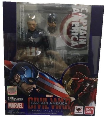 二手 SHF 美國隊長3 英雄內戰 Captain America Civil War 復仇者聯盟