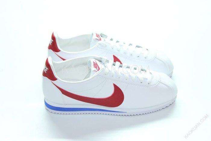 【高冠國際】Nike Cortez Leather 白 藍 紅 荔枝皮 阿甘鞋 原版配色 749571-154