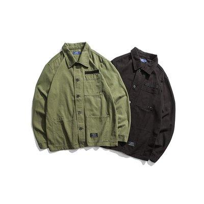 chore jacket工裝外套 簡約百搭 純色素面 大口袋