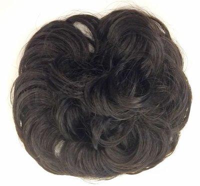 甜甜圈型假髮圈,自然黑