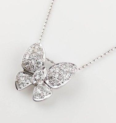 (可缐上無息分期刷卡)鑽石項鍊/  18k白金  27D 共0.67克拉 鍊長40cm