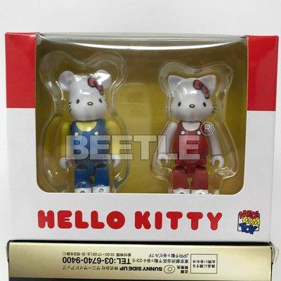 BEETLE BE@RBRICK HELLO KITTY 正版 三麗鷗  100% 兩入 BEARBRICK 庫柏力克熊