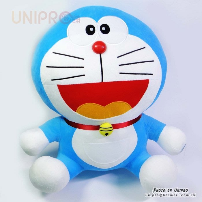 【UNIPRO】哆啦A夢 Doraemon 小叮噹 60公分 坐姿 絨毛玩偶 娃娃 禮物