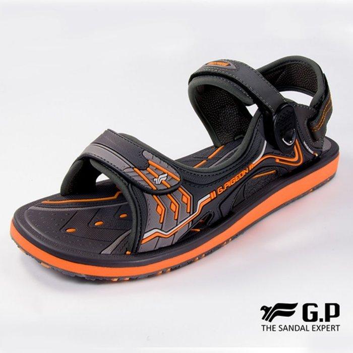 鞋鞋樂園-超取免運-GP-吉比-阿亮代言-男性高彈力舒適涼拖鞋-兩用鞋-磁扣設計-穿脫方便-GP涼鞋-G8666M-42