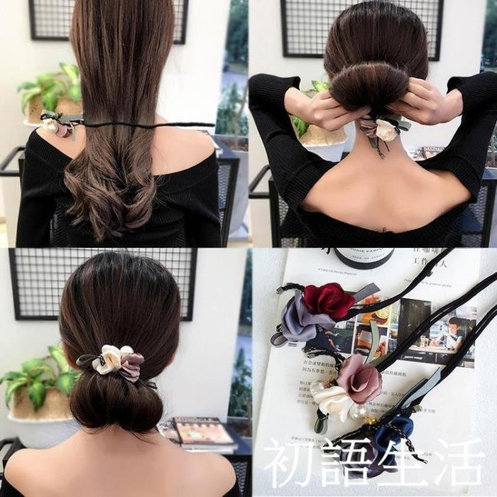 盤髮髮卡丸子頭蓬松器百變盤頭造型花苞頭髮飾髮夾成年頭飾女CYSH5086