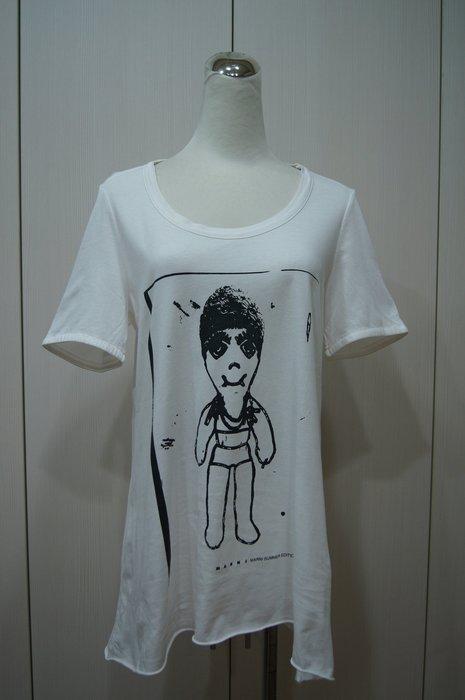 Marni  白色人像圖棉T恤       特價  3200