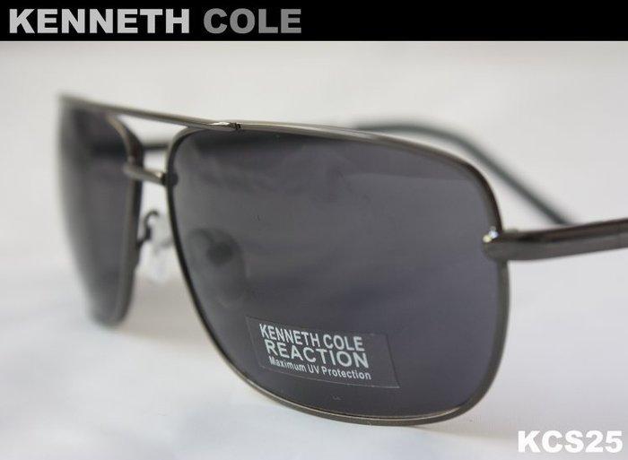 【KENNETH COLE】100% 全新正品 時尚 復古 太陽眼鏡 墨鏡- 深灰藍色*KCS25*NEW