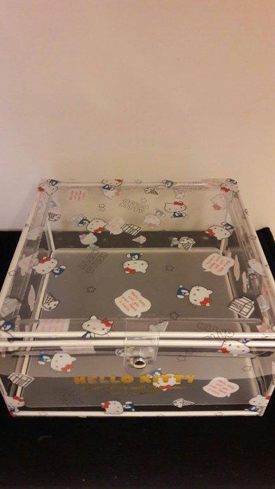 HELLO KITTY透明桌上型收納盒