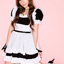 Japanese Maid Dress Waitress Uniform Cosplay Costume Outfit