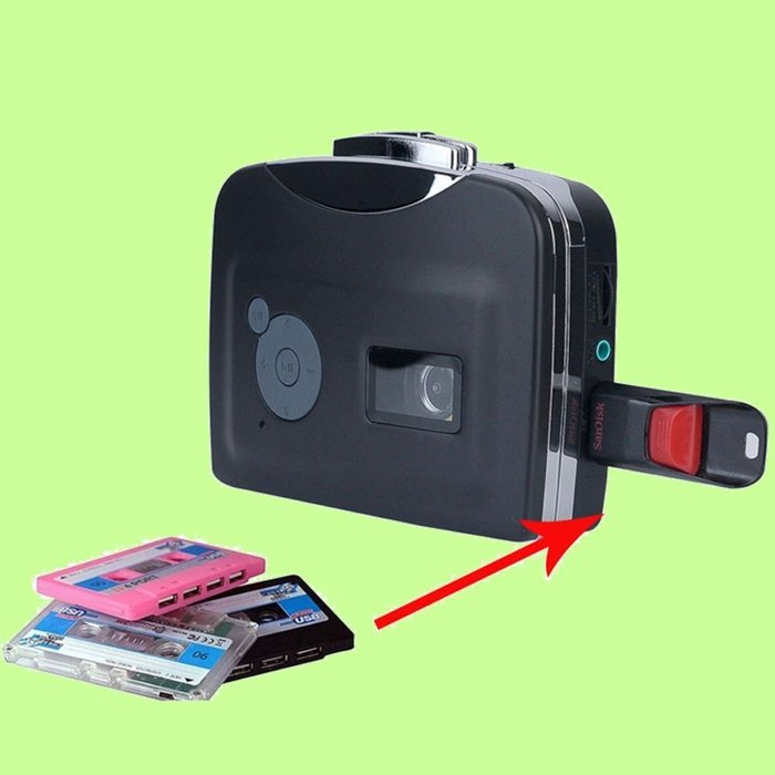 5Cgo【權宇】Ezcap 230 TAPE直轉MP3便攜式USB盒式擷取磁帶卡式錄音帶磁帶轉換器可裝AA電池*2 含稅
