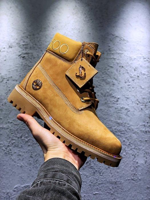 正品Timberland 聯名款女靴Vibram橡膠大底鑽裝飾鞋領休閒大黃靴 35-40碼
