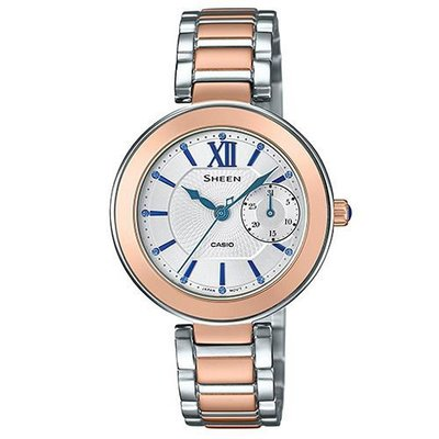 SHEEN羅馬時刻施華洛世奇時尚腕錶(SHE-3050SG-7AUDR)-金框X白面/32mm