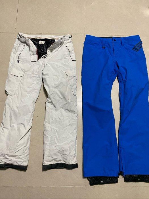 Adidas 雪褲 男 L號 藍