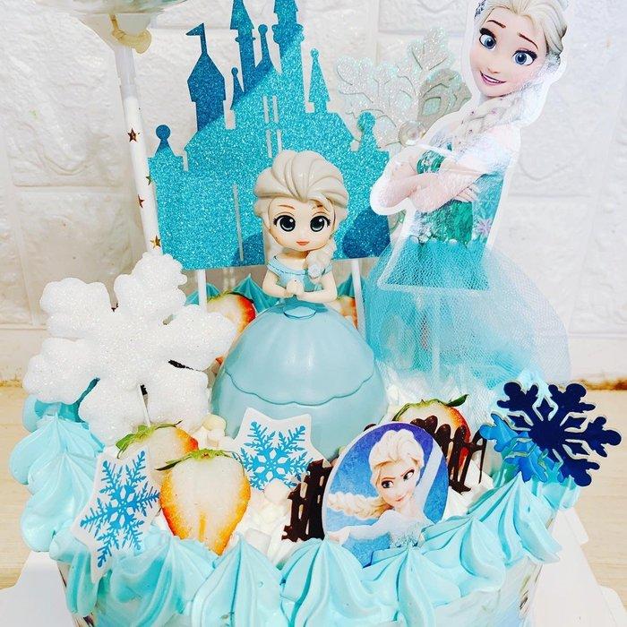 ❤歡迎自取 ❥ 雪屋麵包坊 ❥ 冰雪奇緣款式 ❥ 超萌愛莎 ❥ 8 吋生日蛋糕 ❥❥ 85 折優惠中