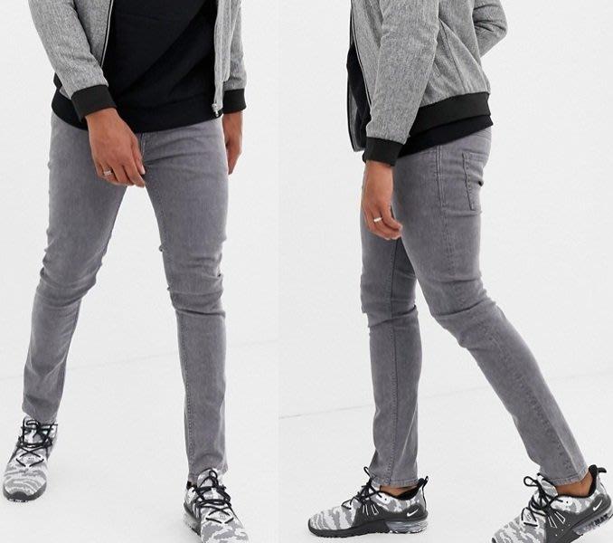◎美國代買◎ASOS英倫時尚街風經典百搭款灰色合身牛仔褲~歐美街風~大尺碼~