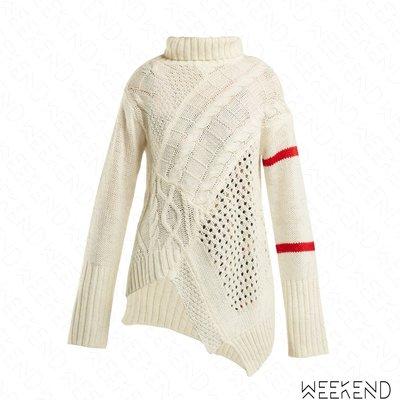 【WEEKEND】 PREEN LINE Serenity 針織 不規則 長袖 上衣 毛衣 白色 18秋冬