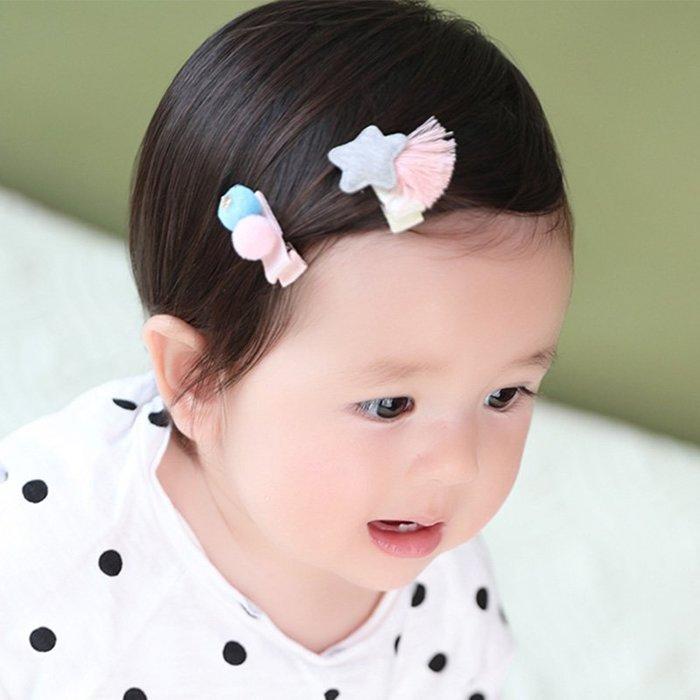 ☆草莓花園☆C177兒童髮夾 星星和小球髮夾  一組2入  拍照攝影 頭飾髮飾