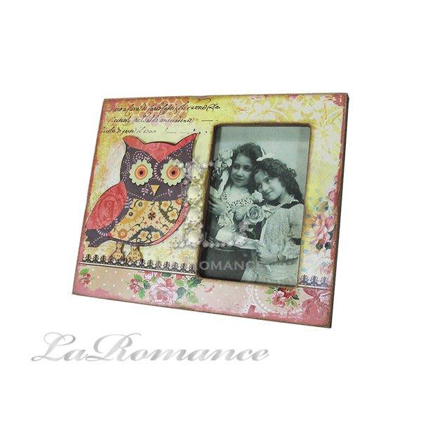 【芮洛蔓 La Romance】貓頭鷹方形木器相框 - 小