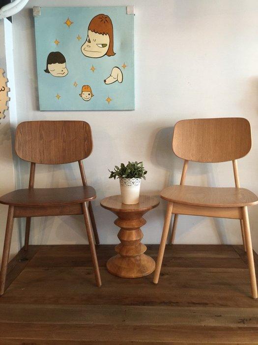 【 一張椅子 】無印文青北歐風 小清新 實木餐椅 書桌椅
