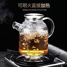 玻璃冷水壺家用耐高溫防爆夏天涼茶泡茶壺-買了否冷-免運-新年新品優惠
