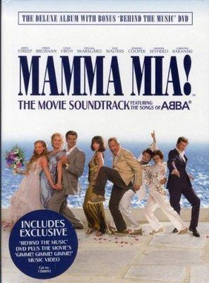 正版CD+DVD《媽媽咪呀!》(CD+ DVD+ 28頁精彩劇照豪華精裝版)/ Mamma Mia! (Deluxe E