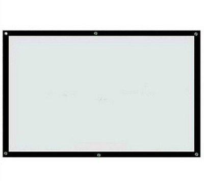 【限郵寄】60吋 16:9 白塑網格投影機布幕(黑邊含打孔有收納桶)簡易布幕投影幕投影布幕 台南市