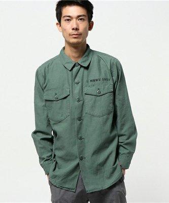 日牌 SEVENDAYS=SUNDAY 工作襯衫 硬挺 厚磅 綠色 HARE RAGEBLUE UR BEAMS