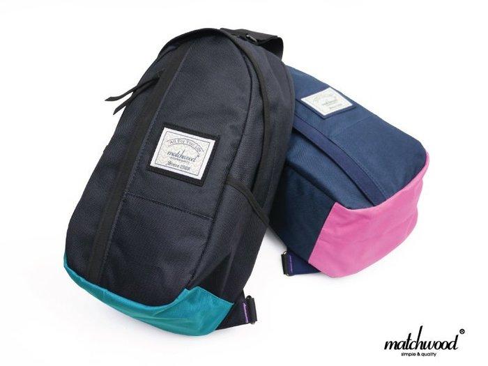 { POISON } MATCHWOOD HUNTER SHOULDER BAG  防水面料機能性 拼接撞色 單肩後背包