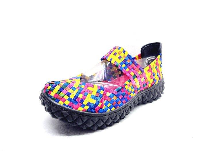 [WALKER 休閒運動] 日本進口 ROCK spring  厚底 編織鞋 娃娃鞋 2色 彩色